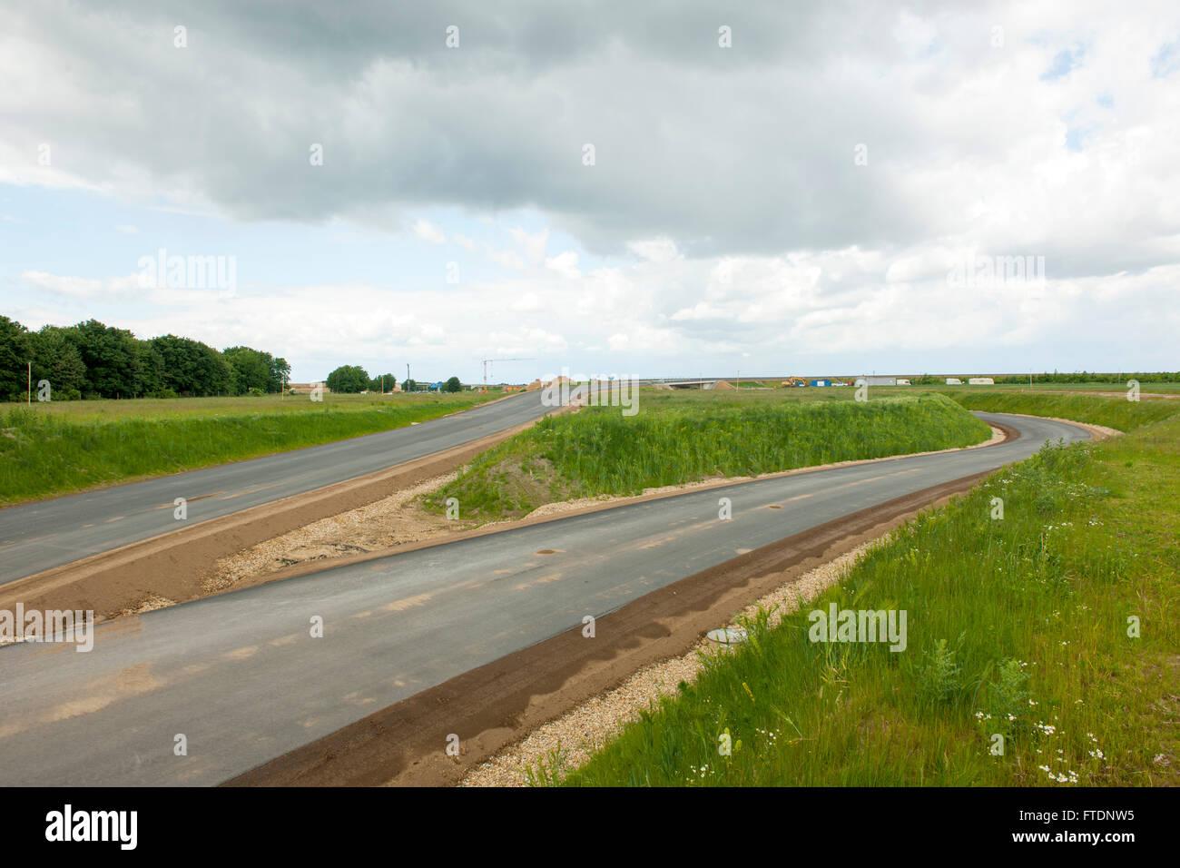 BRD, Deutschland, NRW, Rhein-Kreis Neuss, Baustelle des neuen Autobahnkreuzes Jackerath Stock Photo