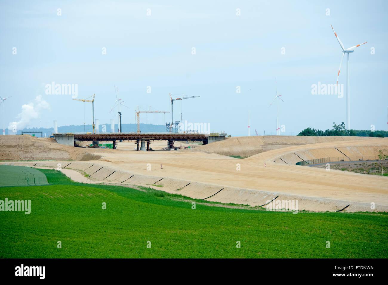 BRD, Deutschland, NRW, Rhein-Kreis Neuss, Baustelle der neuen Autobahn A-44 (Abschnitt Jackerath - Holz) südlich Stock Photo