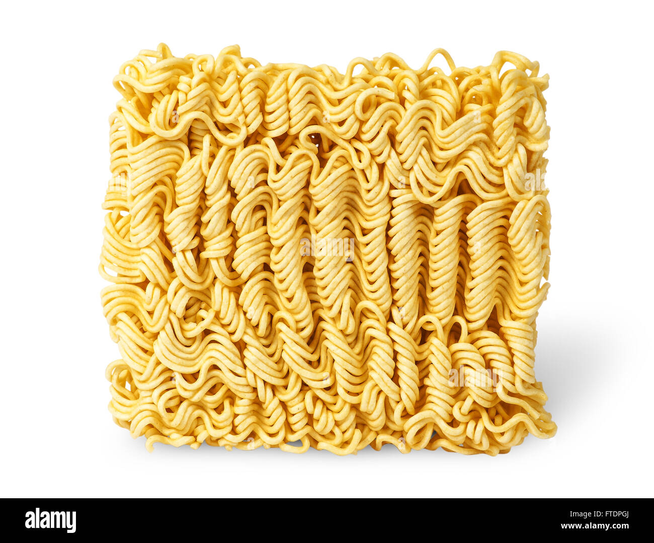 Noodles of fast preparation vertically isolated on white background - Stock Image