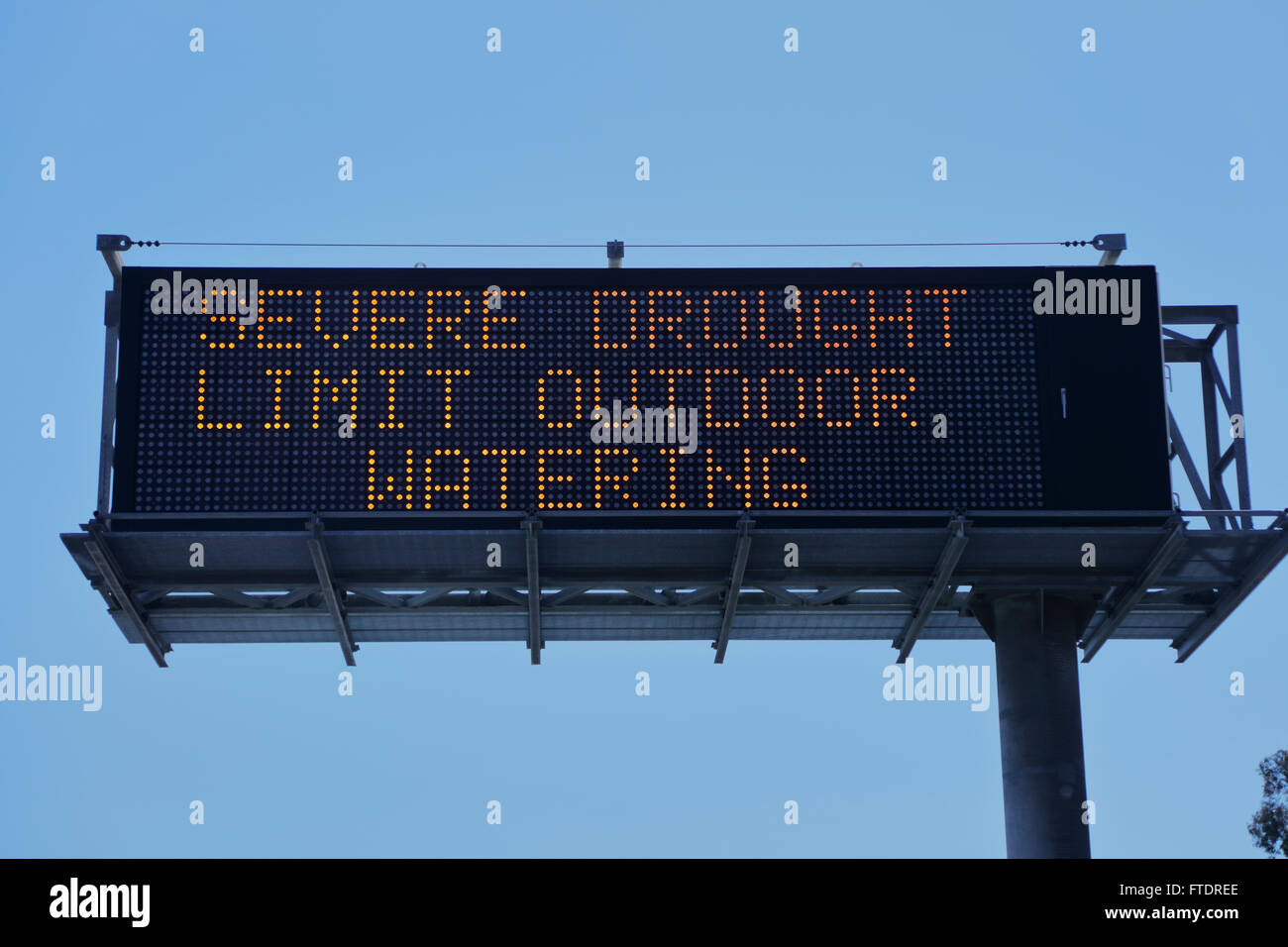 DROUGHT in Southern California - limit watering - Stock Image