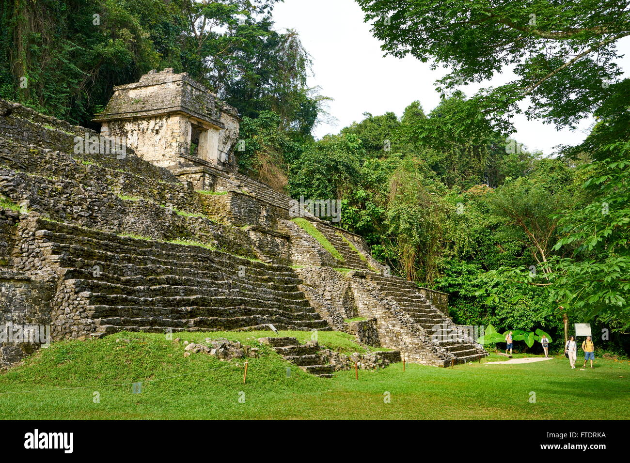 Temple of the Skull, Ancient Maya Ruins, Palenque, Mexico - Stock Image