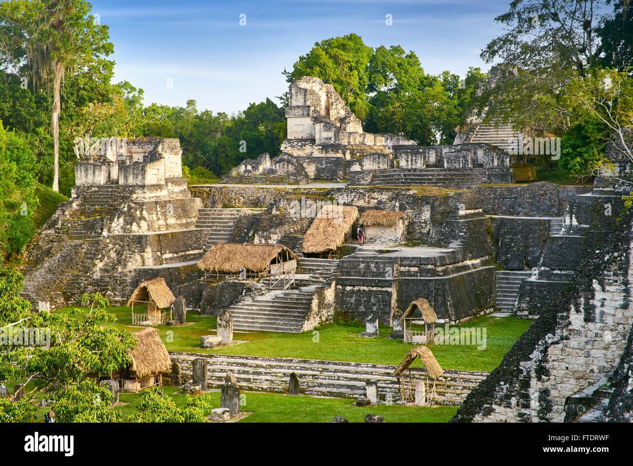 Ancient Maya Ruins, Tikal National Park, Guatemala, UNESCO - Stock Image