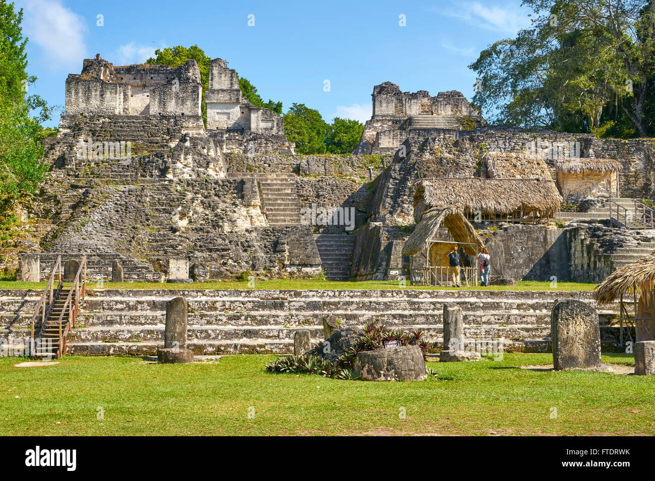 Ancient Maya Ruins, Tikal National Park, Guatemala, Yucatan, UNESCO - Stock Image