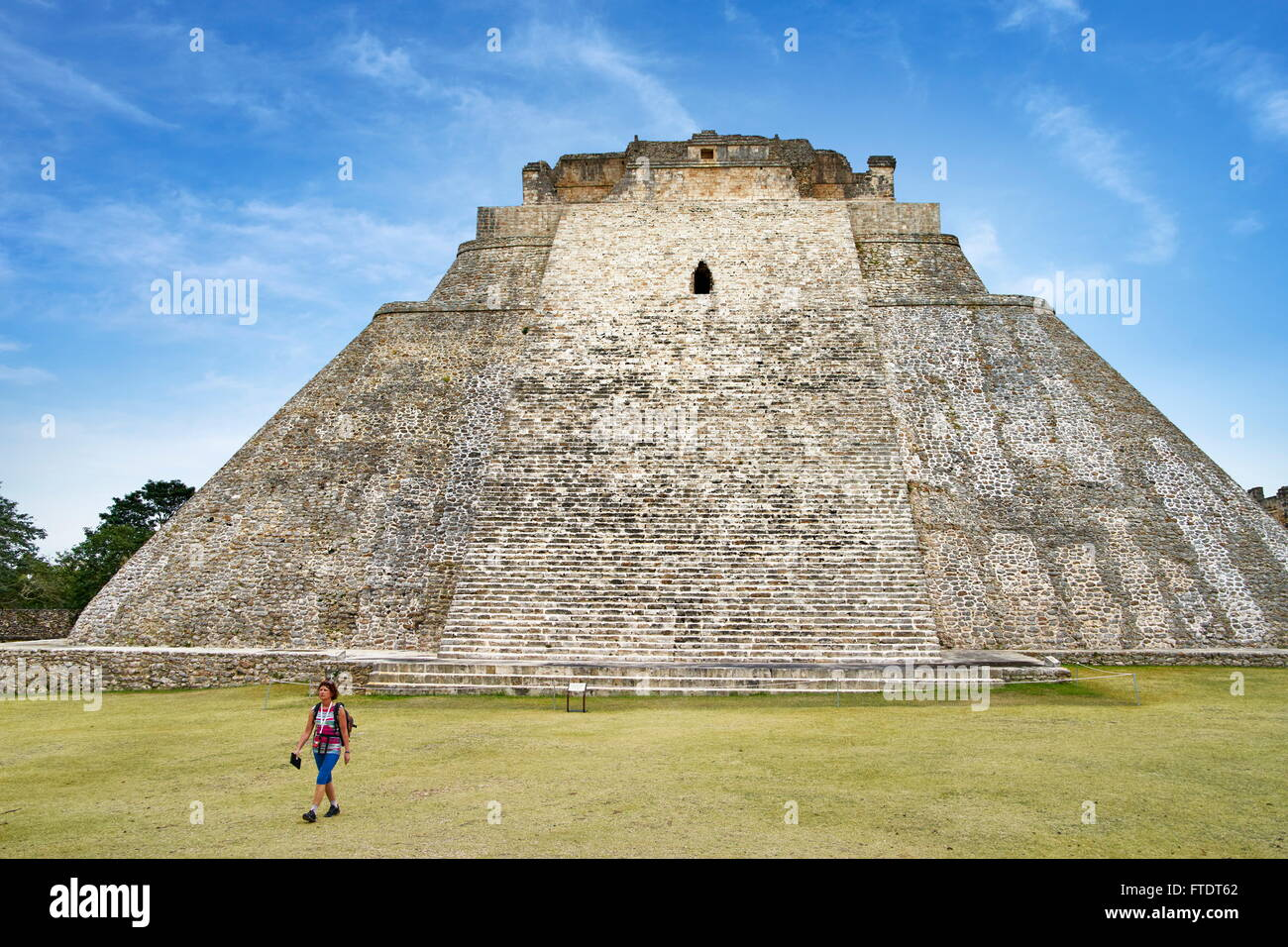 Pyramid of the Magician in Uxmal, Yucatan, Mexico UNESCO - Stock Image
