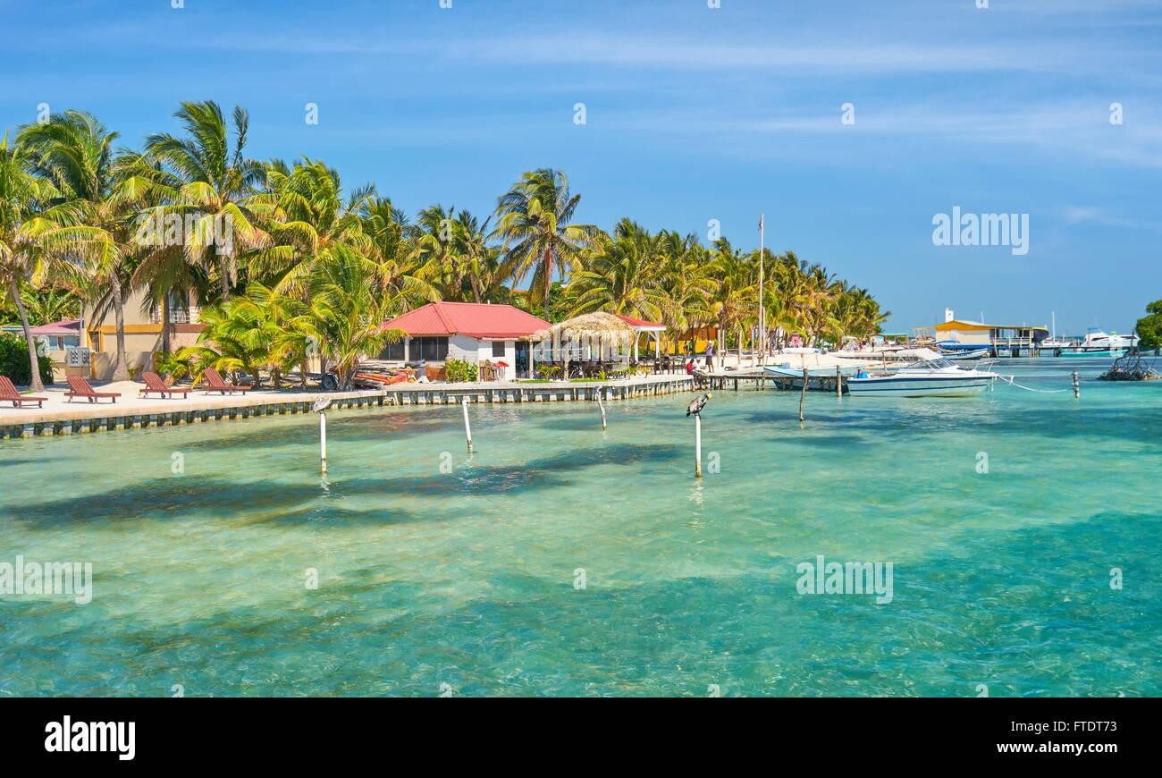 Caye Caulker Caribbean Island, Belize, Central America - Stock Image