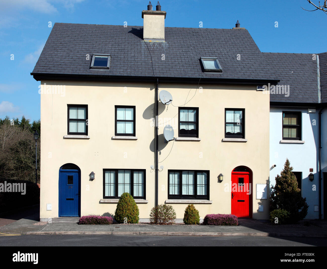 Townhouse in market town of Carrickmacross, County Monaghan, Ireland - Stock Image