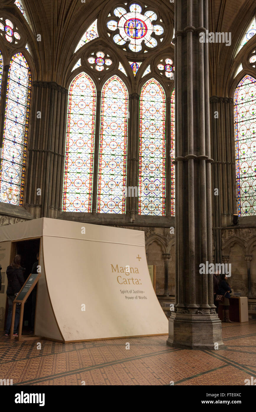 Chapter House, Salisbury Cathedral, Wiltshire Stock Photo