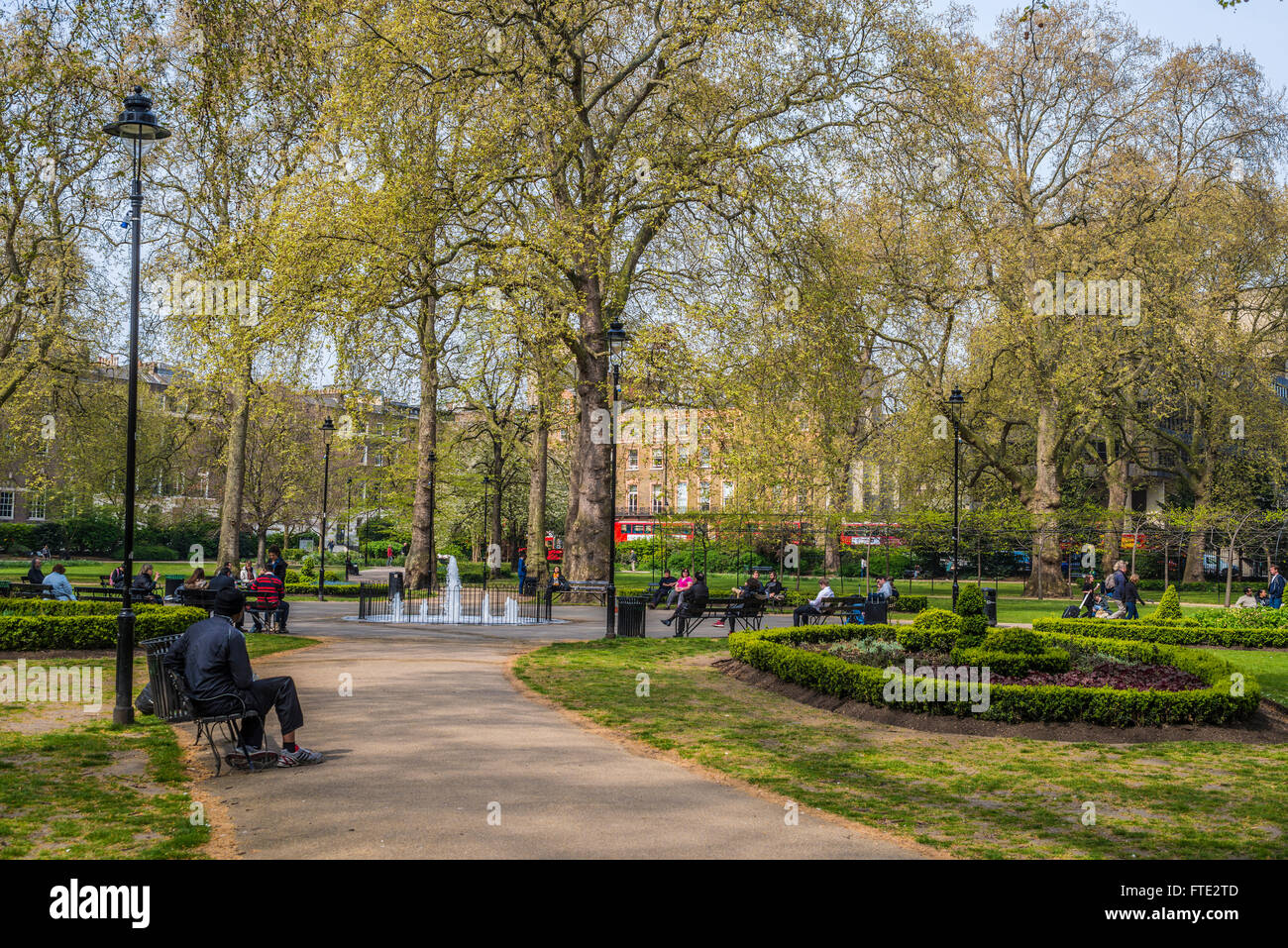 Russell Square Gardens, Bloomsbury, London - Stock Image