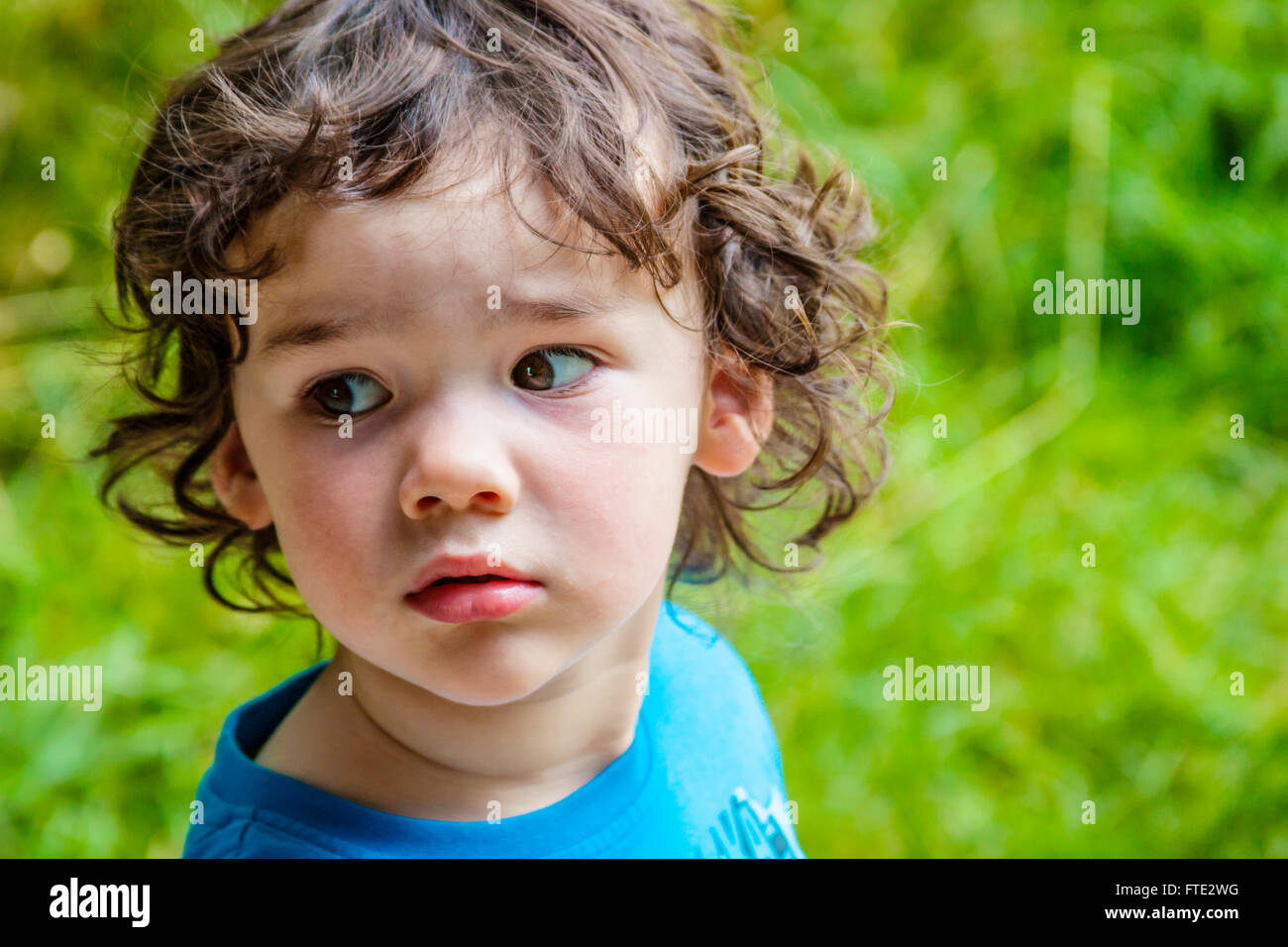 Portrait of Young Boy, 3 years - Stock Image