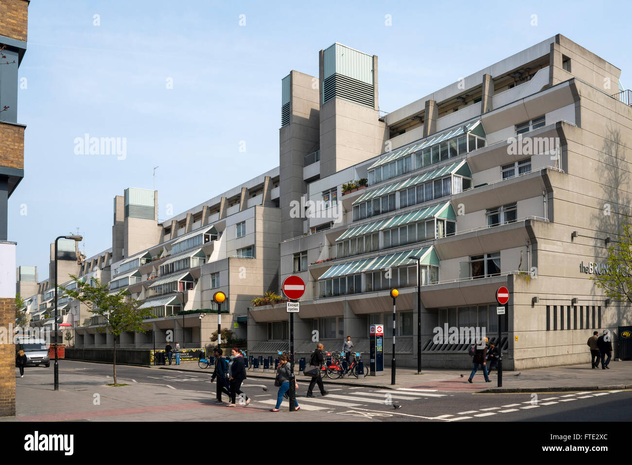 The Brunswick Centre, Bloomsbury, London - Stock Image