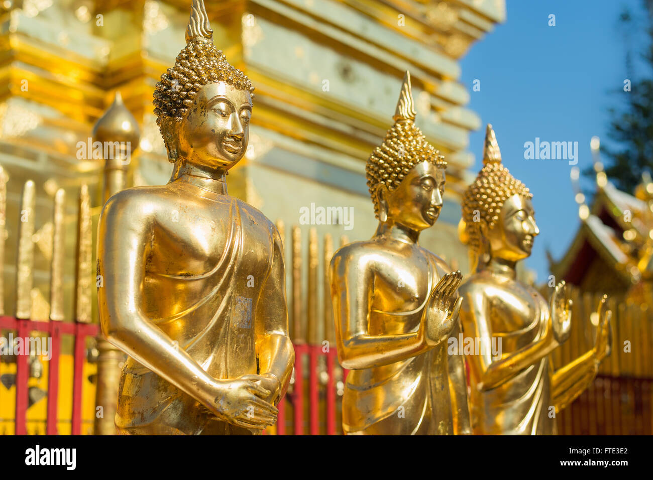 Wat Phra That Doi Suthep in Chiang Mai, Thailand - Stock Image