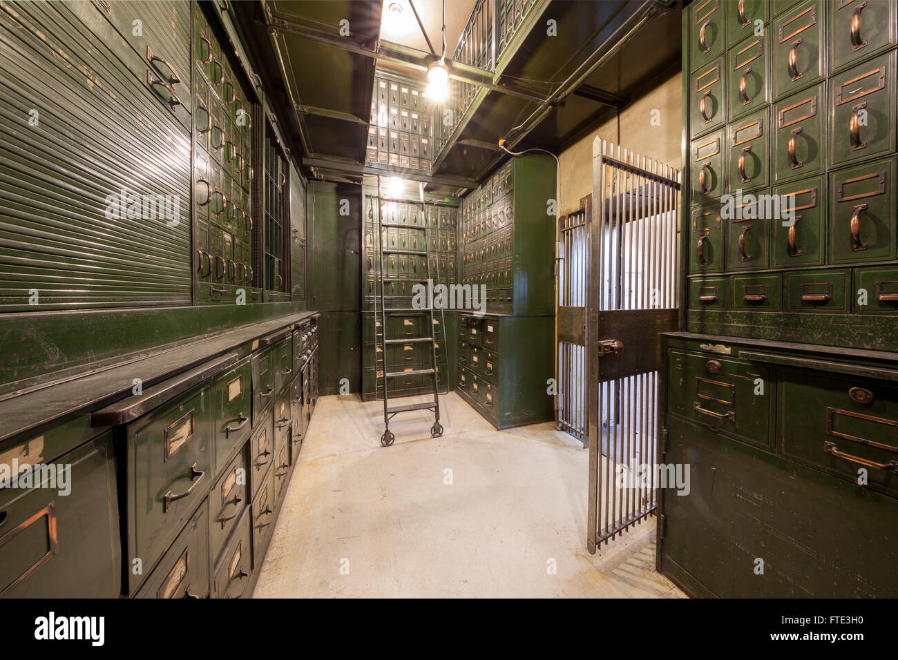 Old Bank Vault. - Stock Image