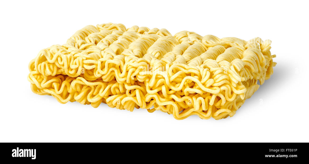 Noodles of fast preparation isolated on white background - Stock Image
