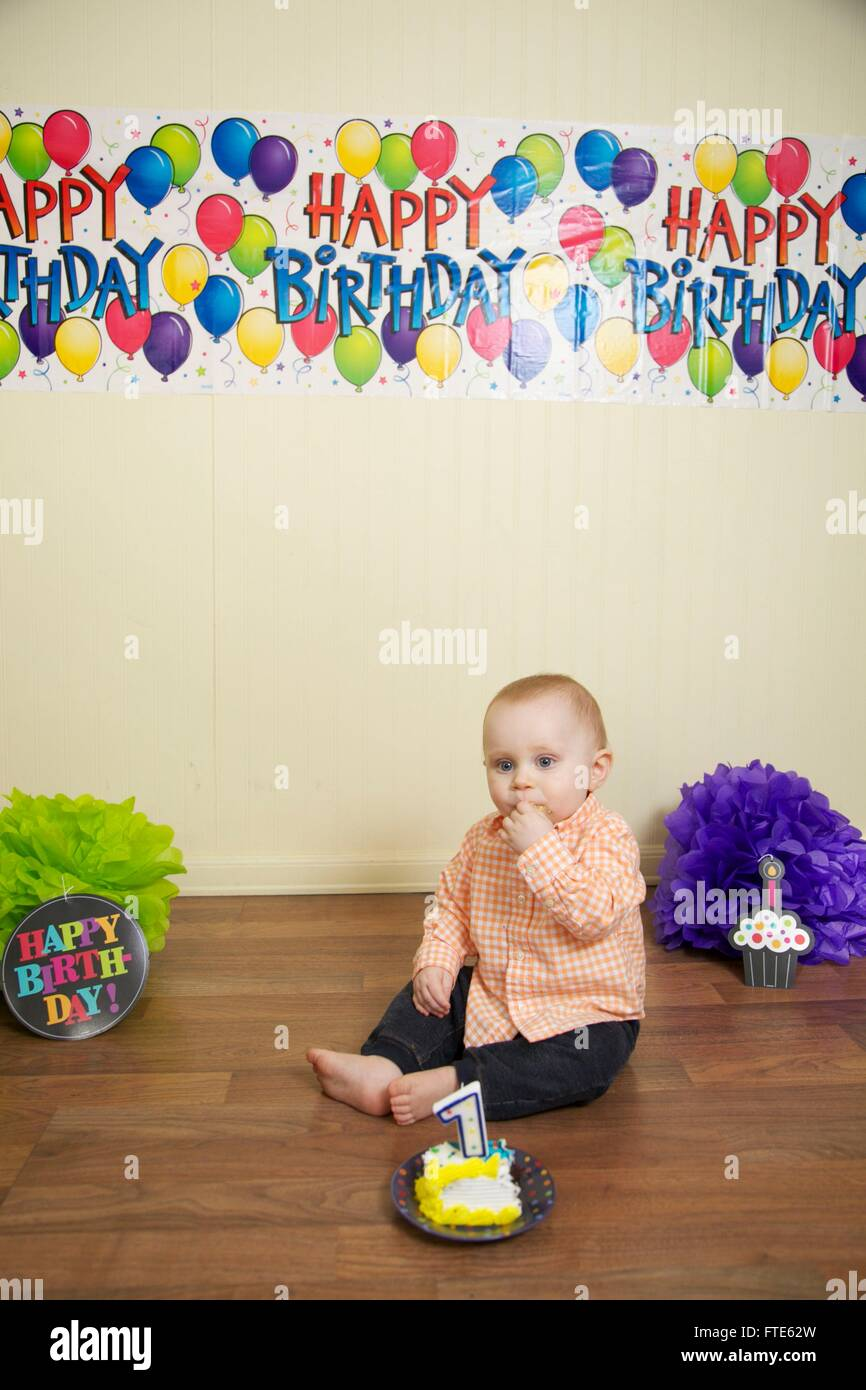 Miraculous Baby Boys First Birthday Cake Smash Stock Photo 101115697 Alamy Funny Birthday Cards Online Alyptdamsfinfo