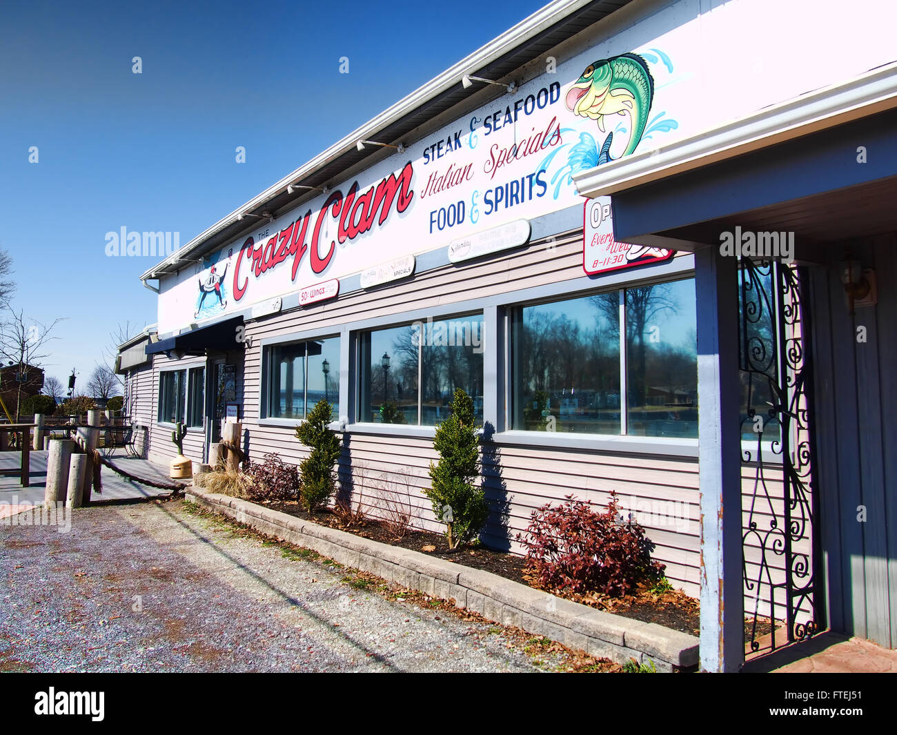 The Crazy Clam Restaurant Sylvan Beach - Stock Image