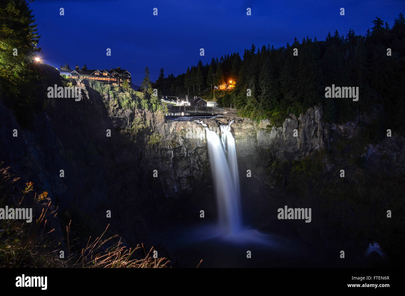 Snoqualmie Falls in Washington - Stock Image