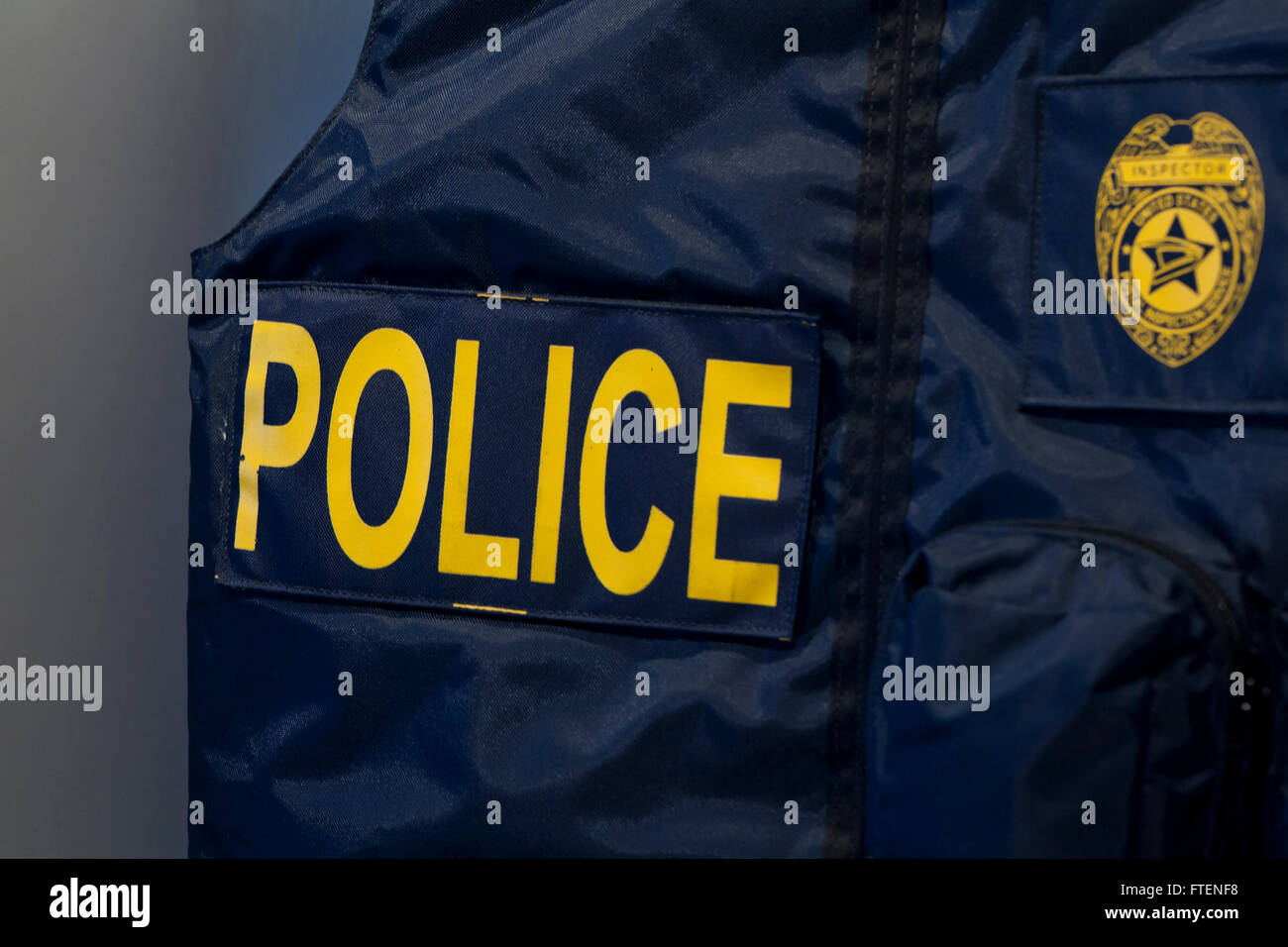 Police vest - USA Stock Photo