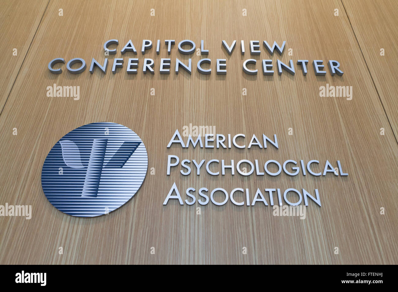 American Psychological Association lobby sign - Washington, DC USA - Stock Image