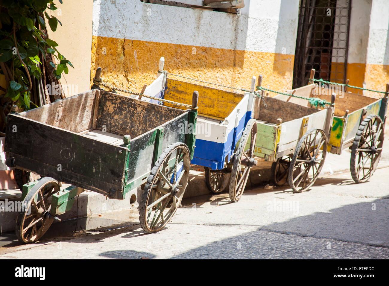 Traditional wagon in Cartagena de Indias - Stock Image
