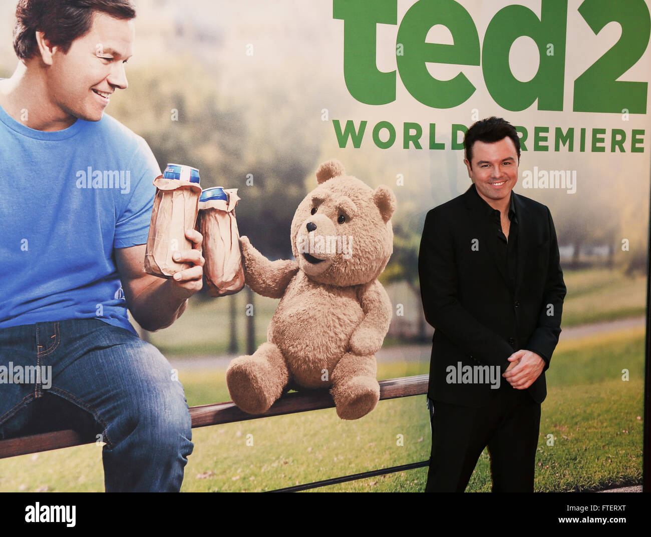NEW YORK-JUN 24: Seth MacFarlane attends the 'Ted 2' world premiere at the Ziegfeld Theatre on June 24, - Stock Image