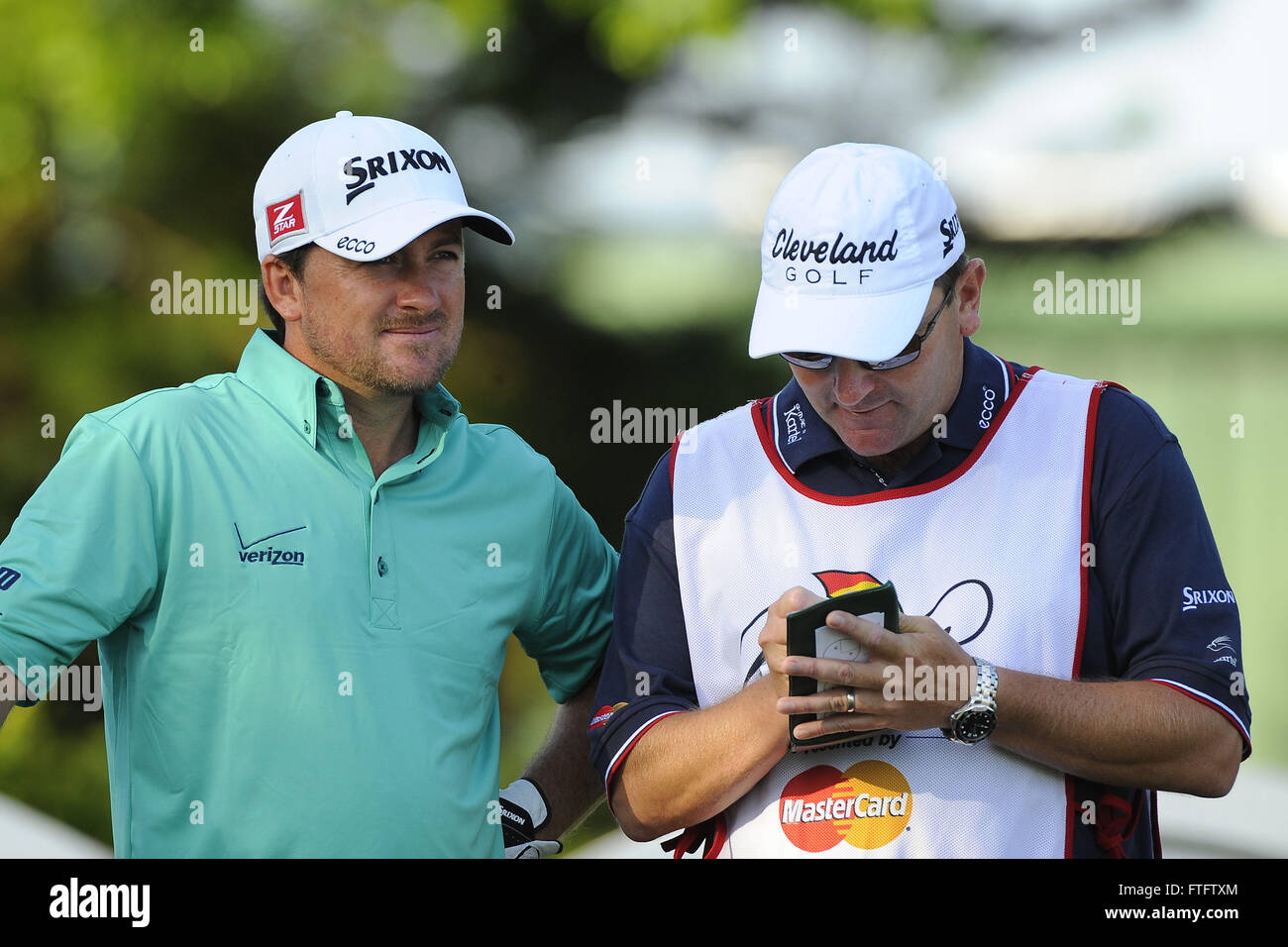 23rd Mar, 2012. Graeme McDowell during the second
