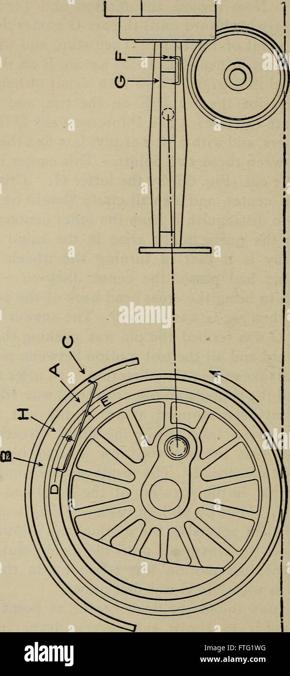 Cyclopedia of locomotive engineering, with examination questions and answers; a practical manual on the construction Stock Photo