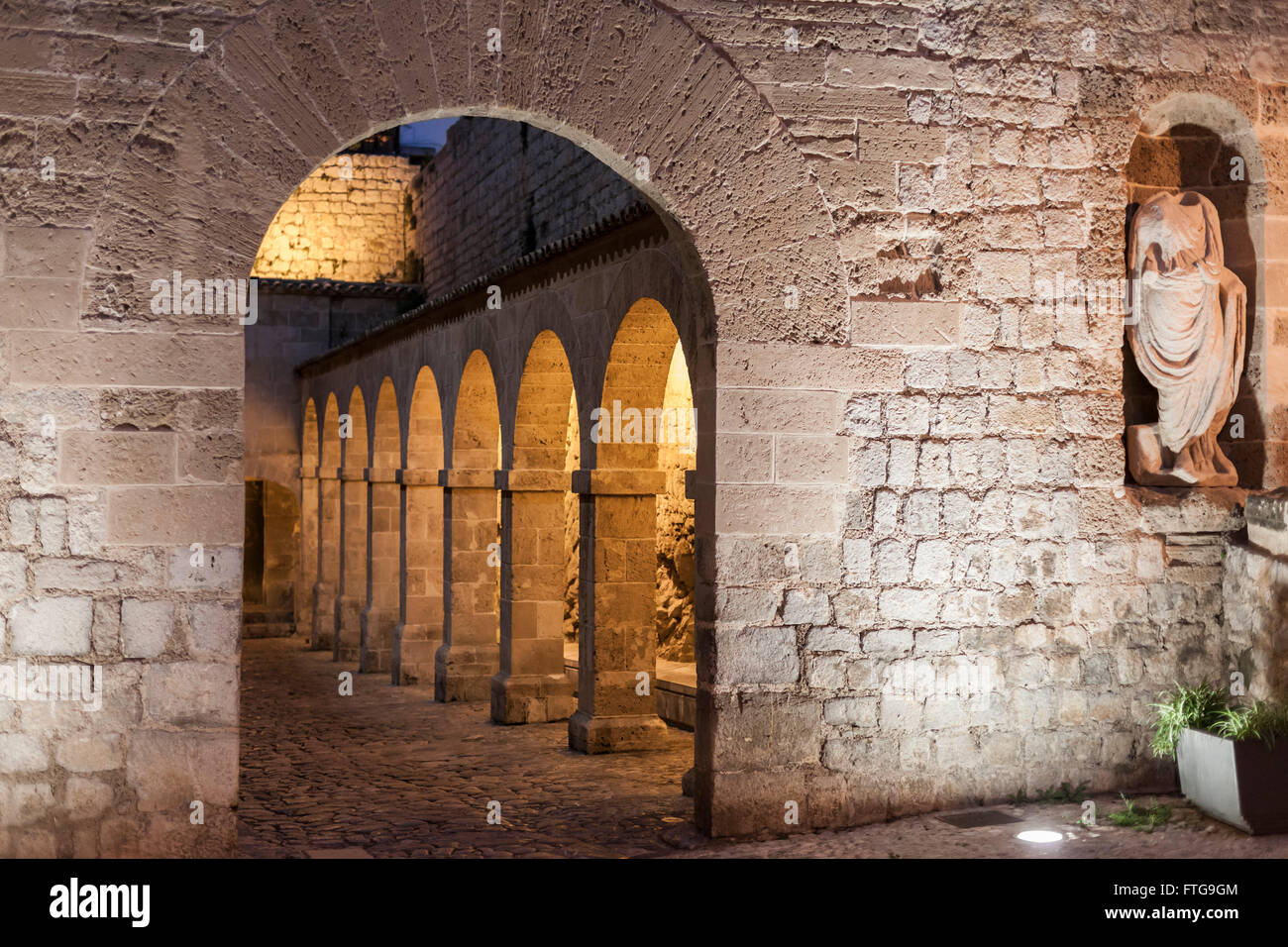 Patio de Armas-Armoury Court,Ibiza-Eivissa,Balearic Islands,Spain. - Stock Image