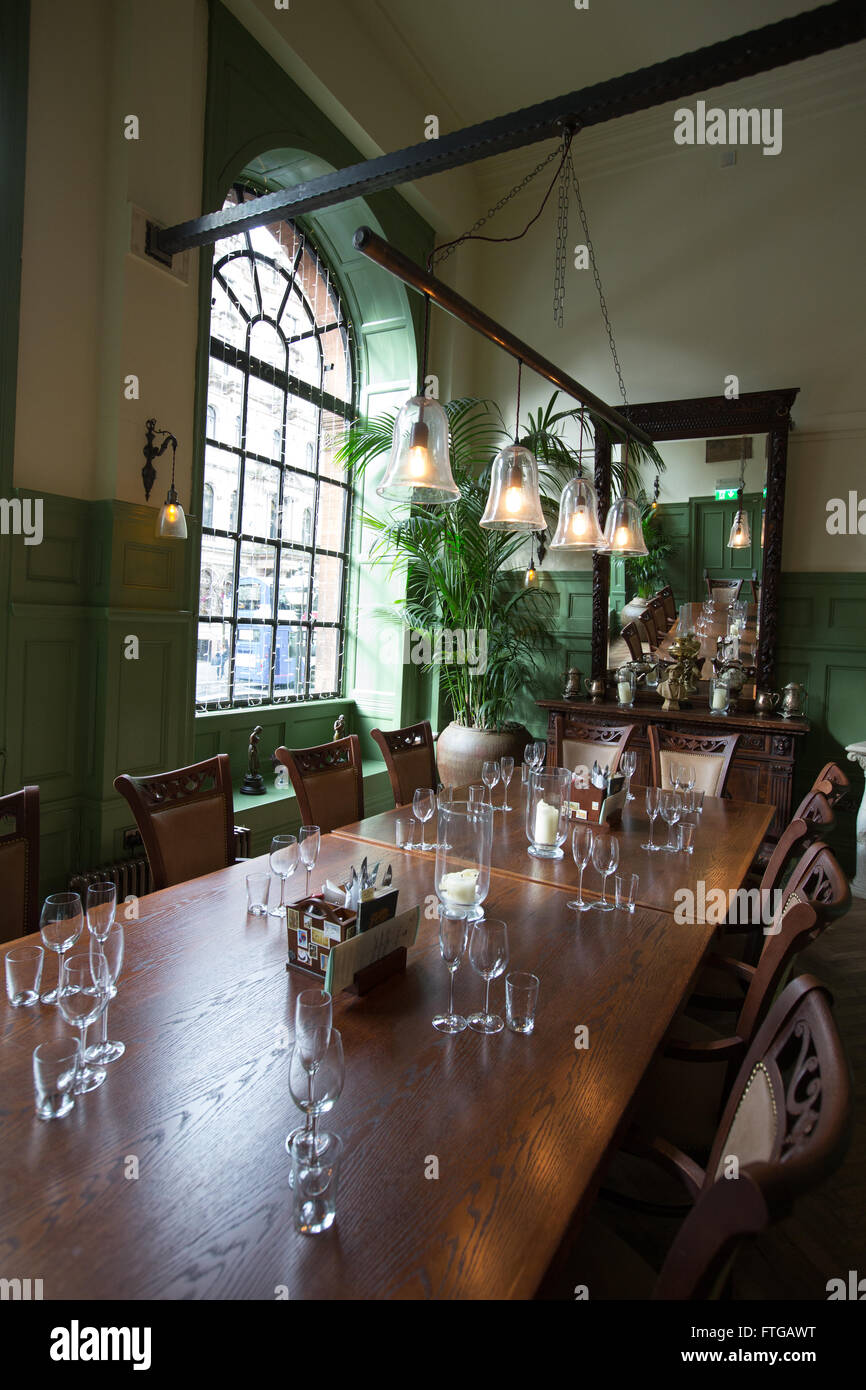 Private Dining Room In The Trading House Bar Restaurant Pub Glasgow Scotland