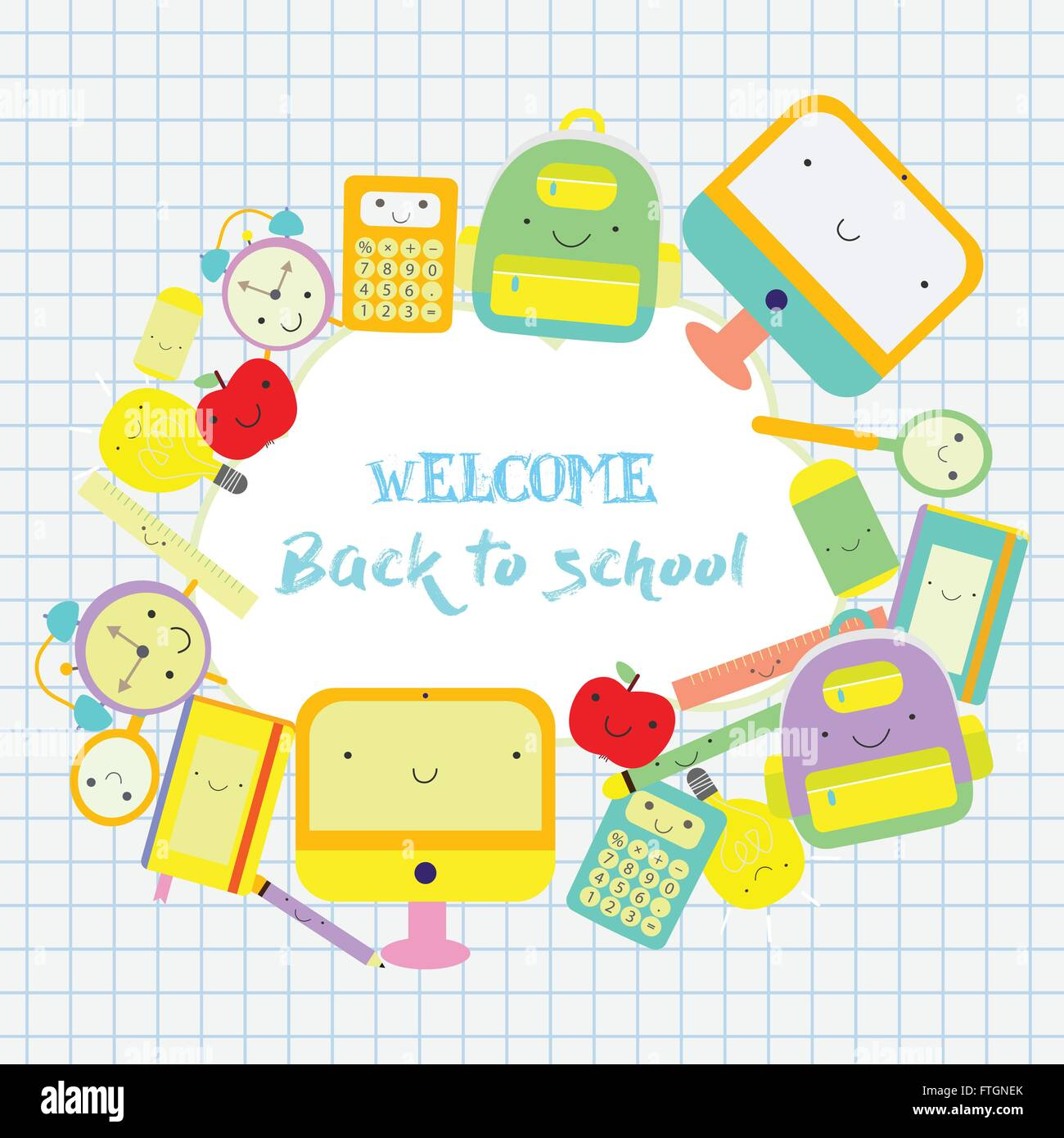 Back to school themed frame text. Back to school background with ...