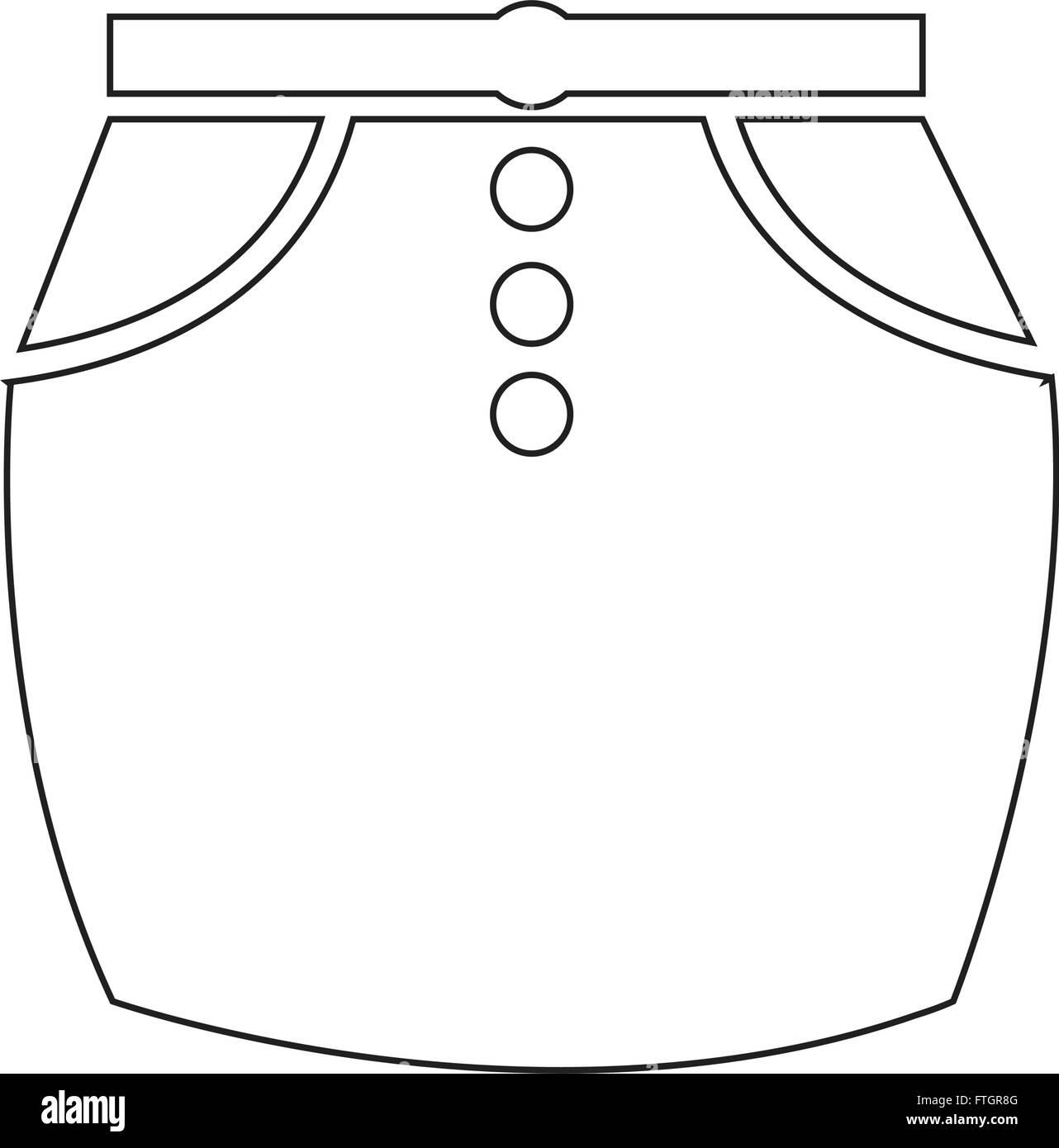 skirts icon Illustration sign design - Stock Vector
