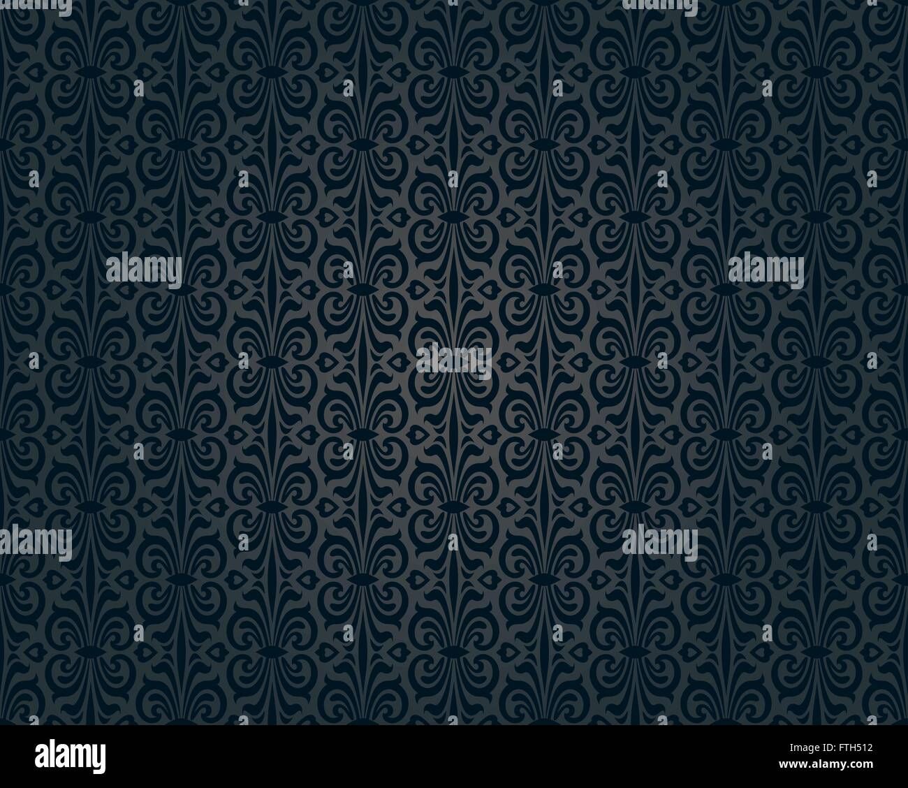 Black Vintage Wallpaper Background Repetitive Pattern Design