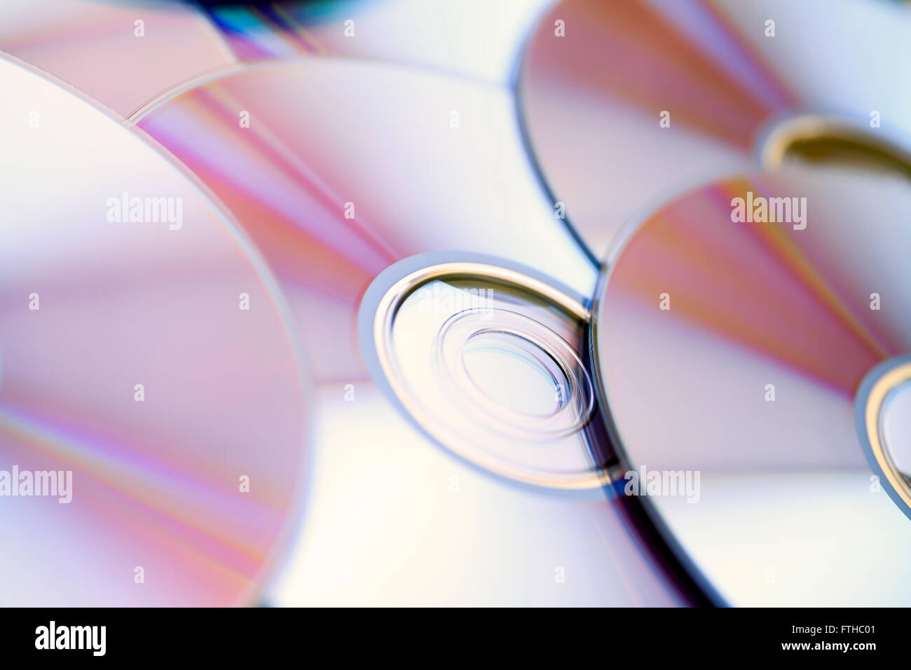 DVD Disks background. Close up. Stock Photo
