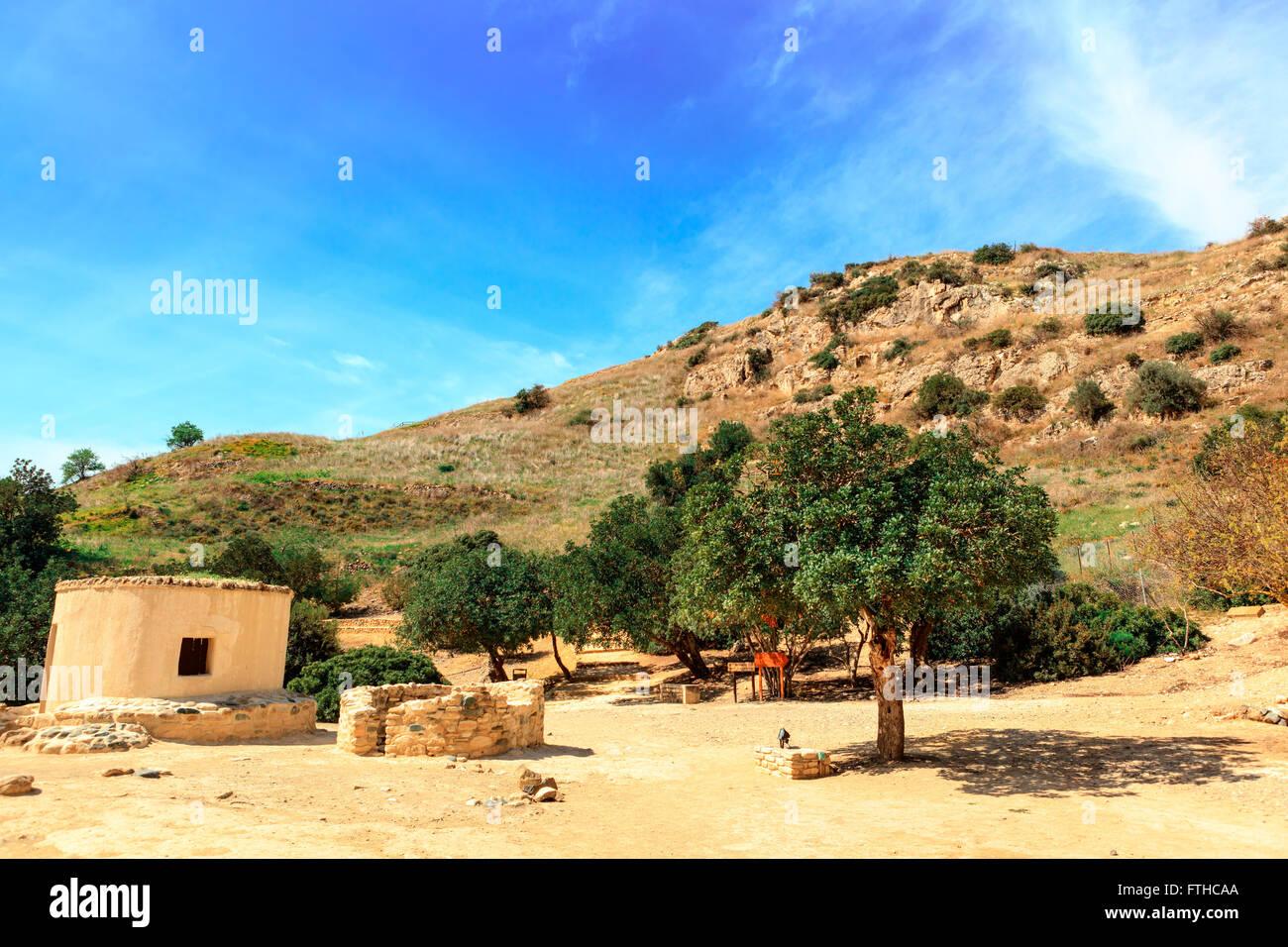 The Neolithic settlement of Choirokoitia, Cyprus. Stock Photo