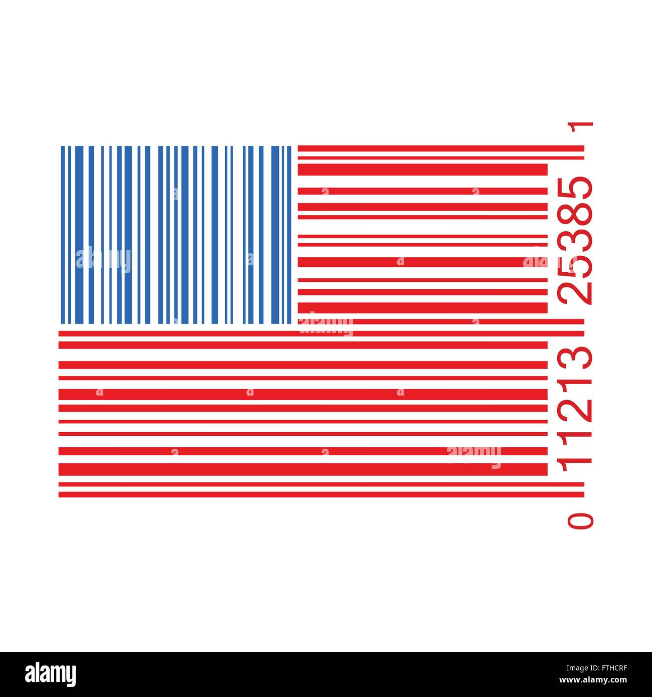 U.S. barcode vector illustration isolated - Stock Vector