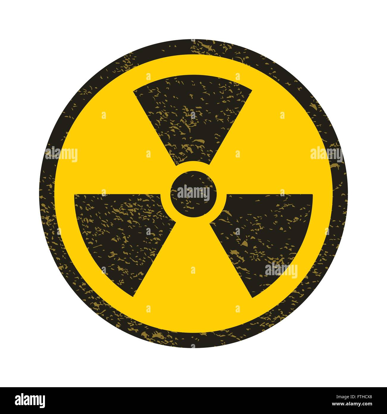 Grunge nuclear symbol vector illustration - Stock Vector