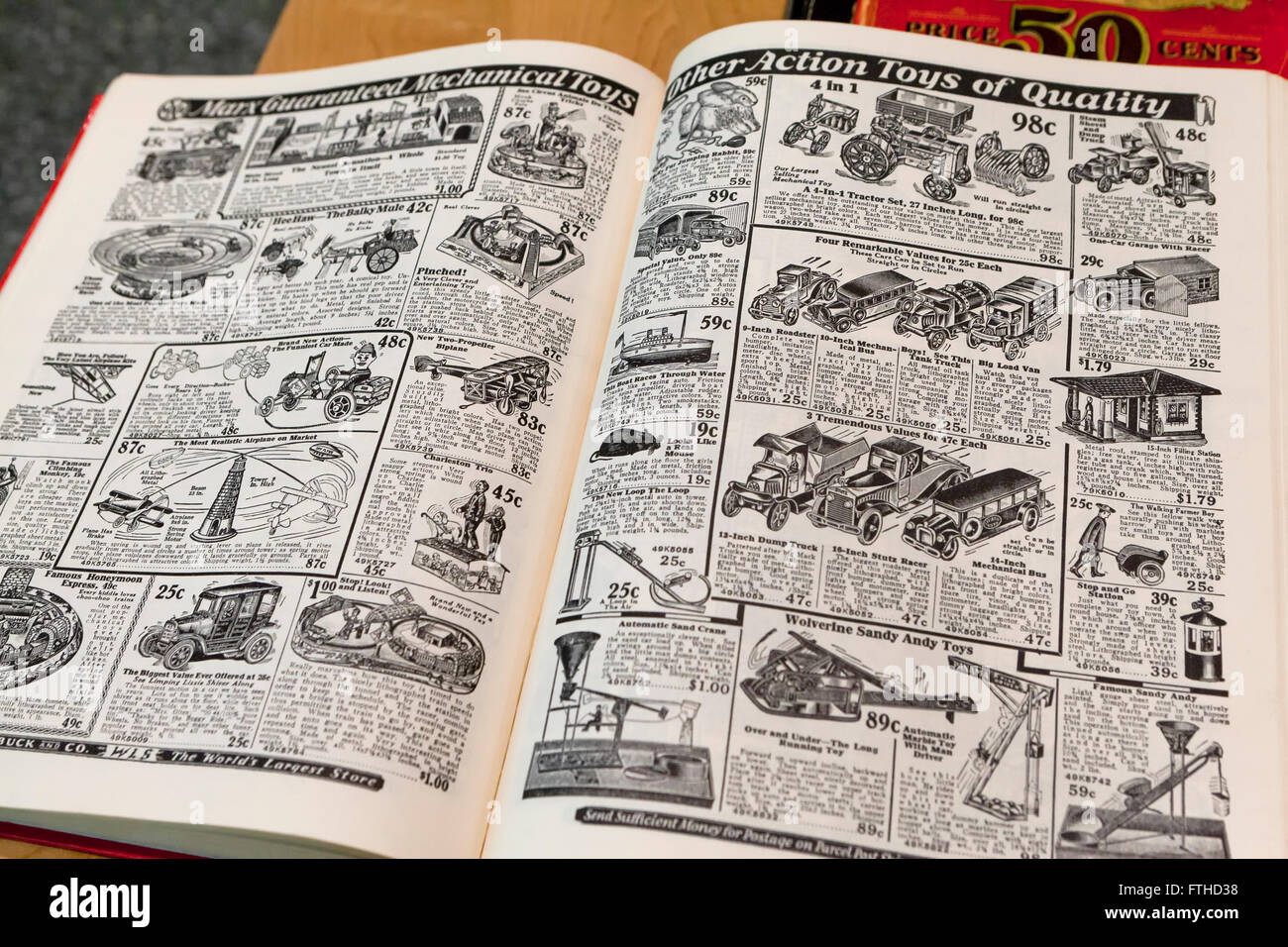 Sears Toys For Boys : Boys toys pages from sears roebuck catalogue book