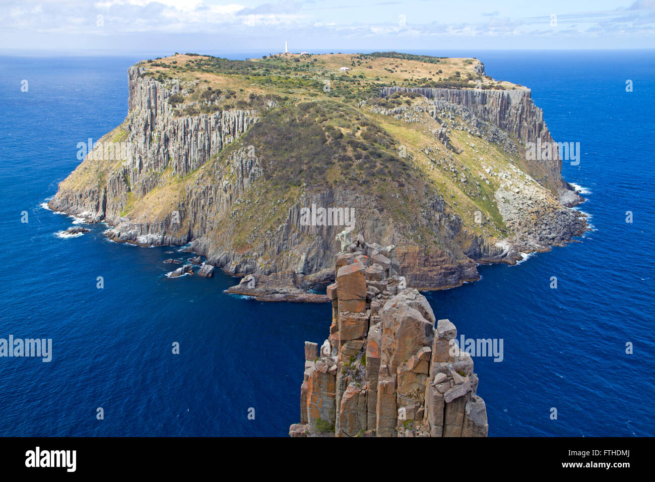 Tasman Island and the Blade at the tip of Cape Pillar - Stock Image