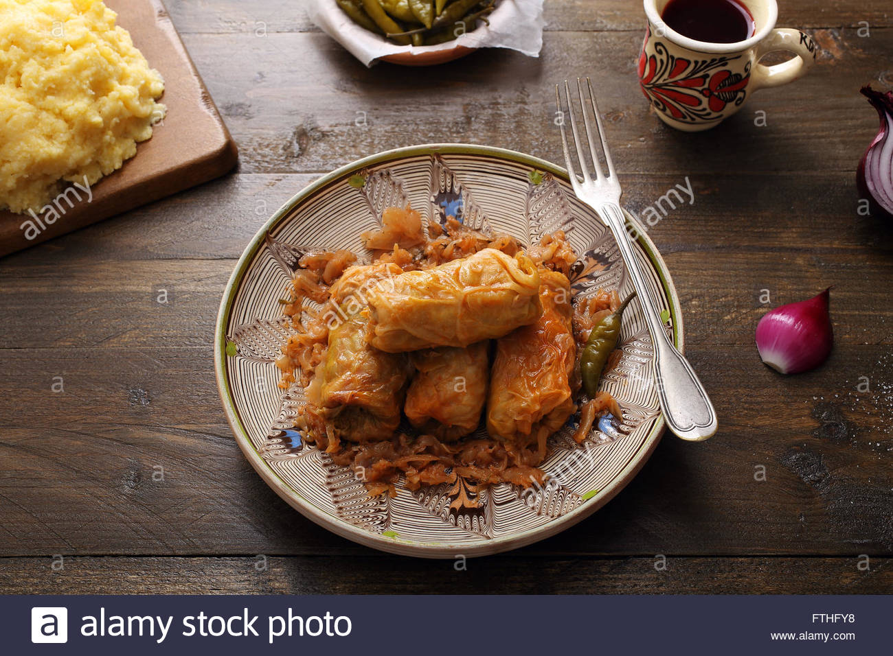 Romanian sarma, sarmale Stock Photo