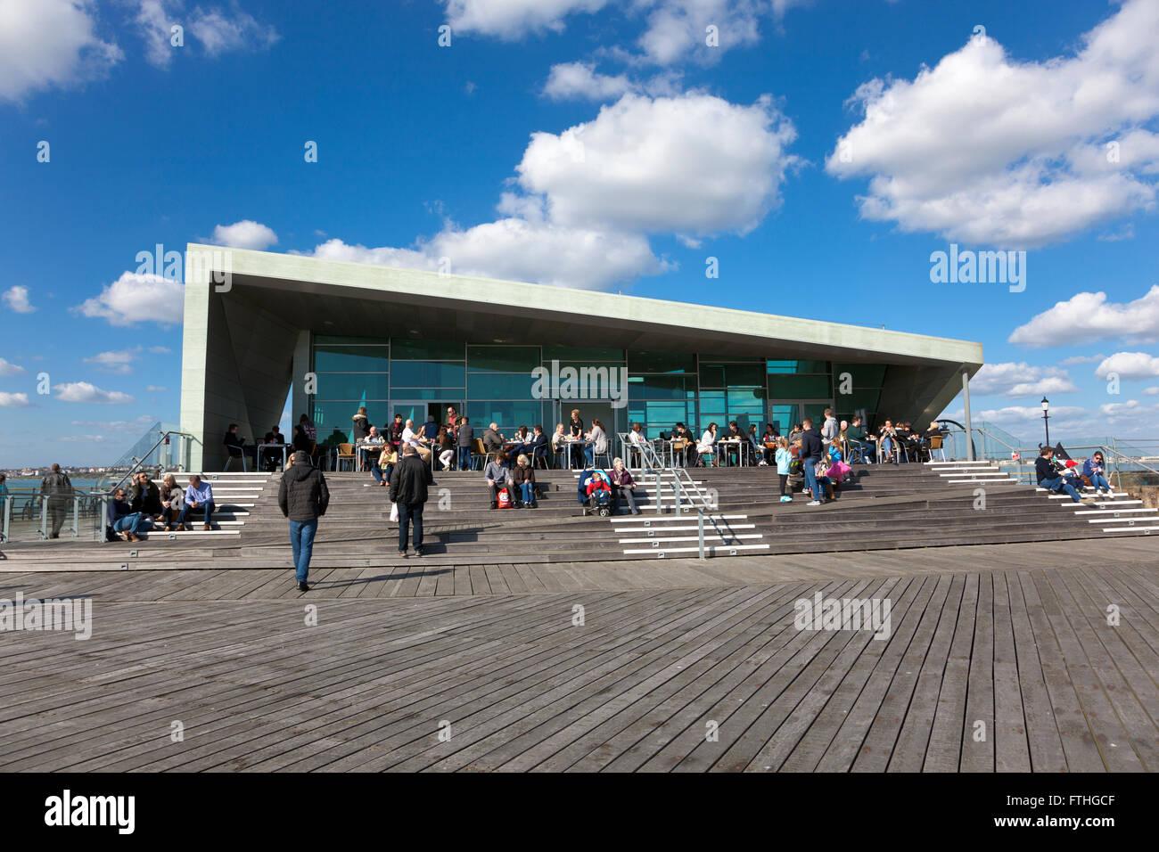Southend Pier Royal Pavilion, Southend-on-Sea, UK - Stock Image