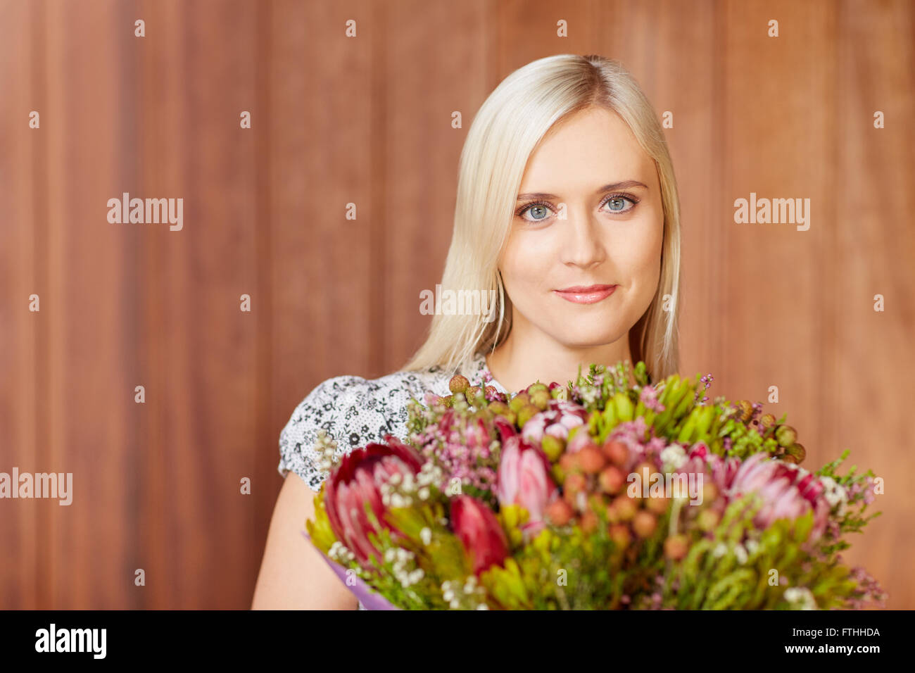 As pretty as a flower - Stock Image