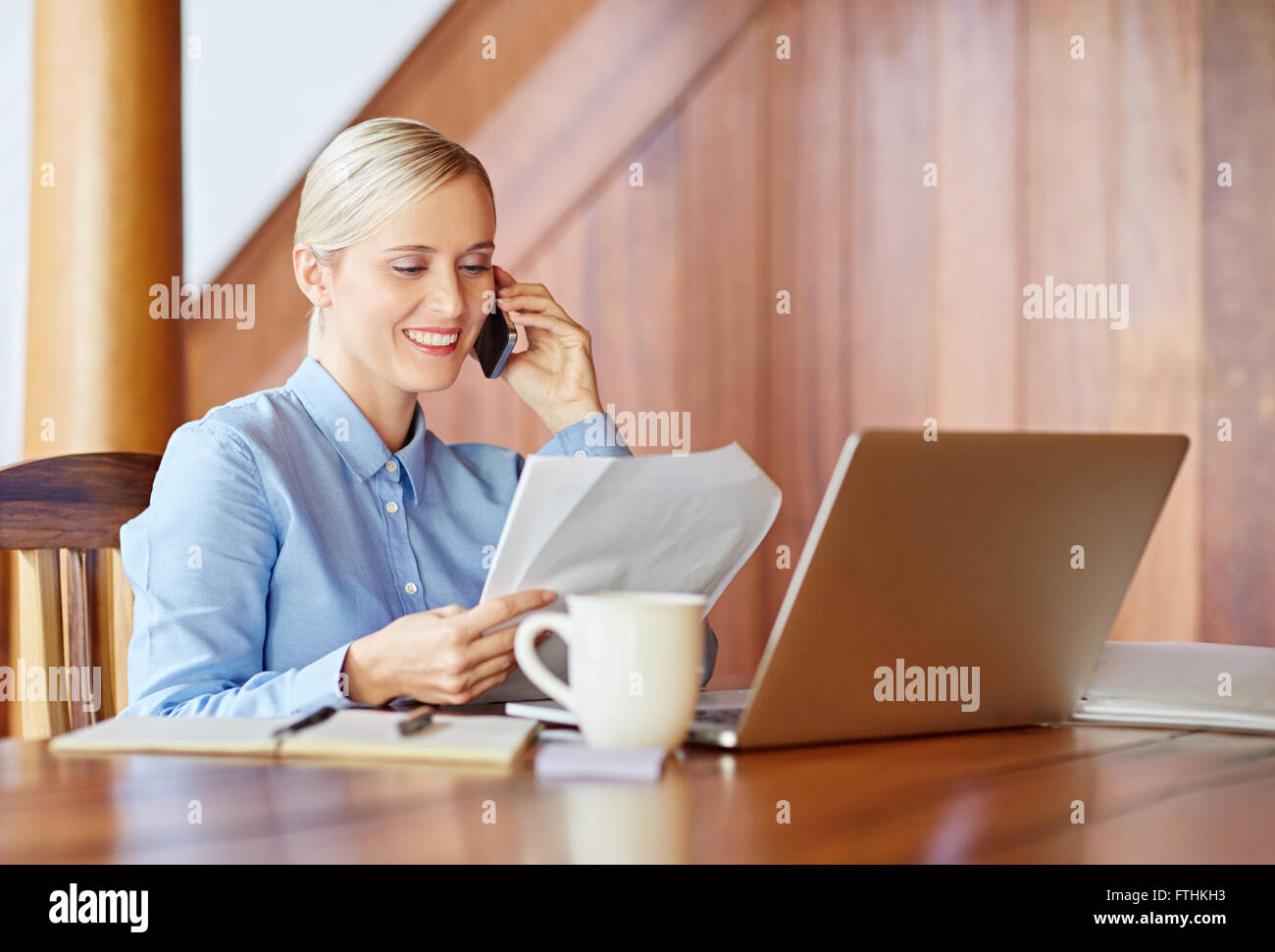 Making appointment for next business meeting - Stock Image