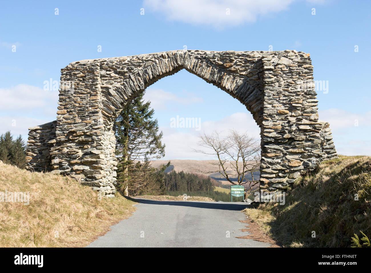 The Arch near Devil's Bridge - Stock Image