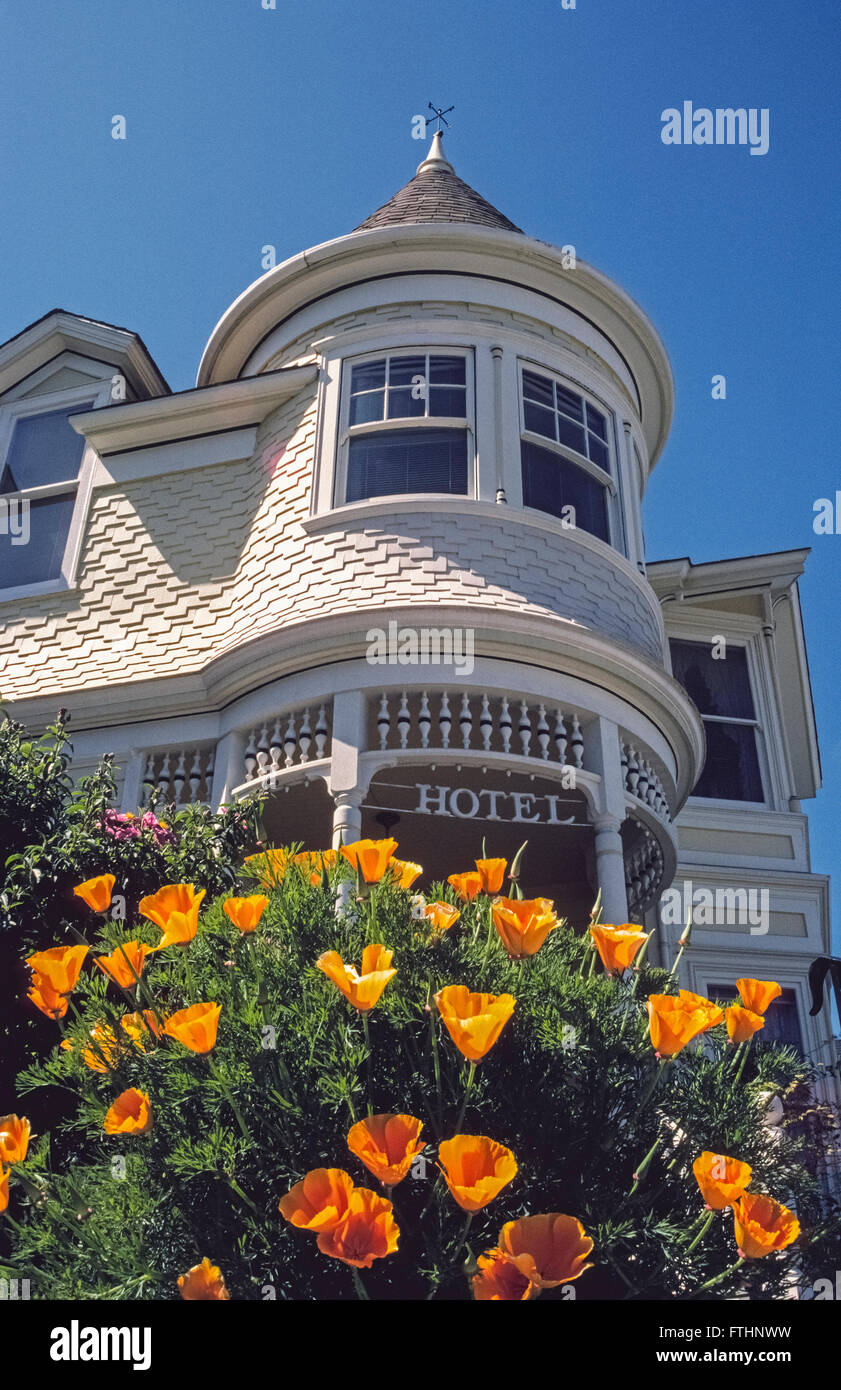 An historic Victorian hotel now called the Gosby House Inn has been welcoming guests for more than a century in - Stock Image