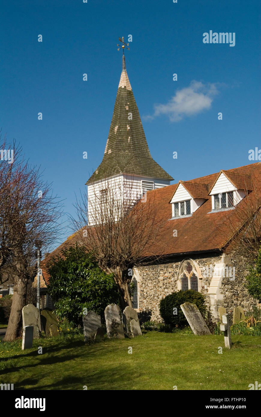Horndon on the Hill Essex.  Parish church St Peter and St Paul. HOMER SYKES - Stock Image