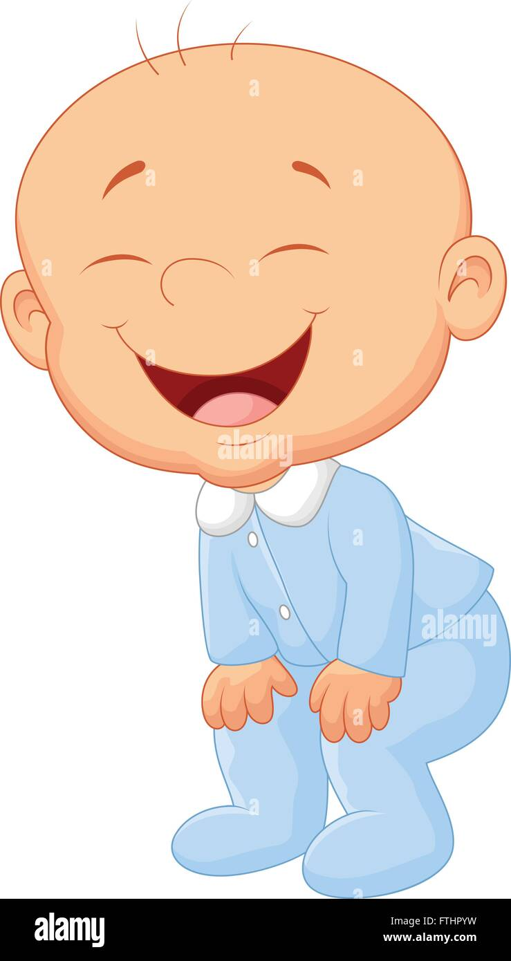 Baby boy laughing - Stock Image