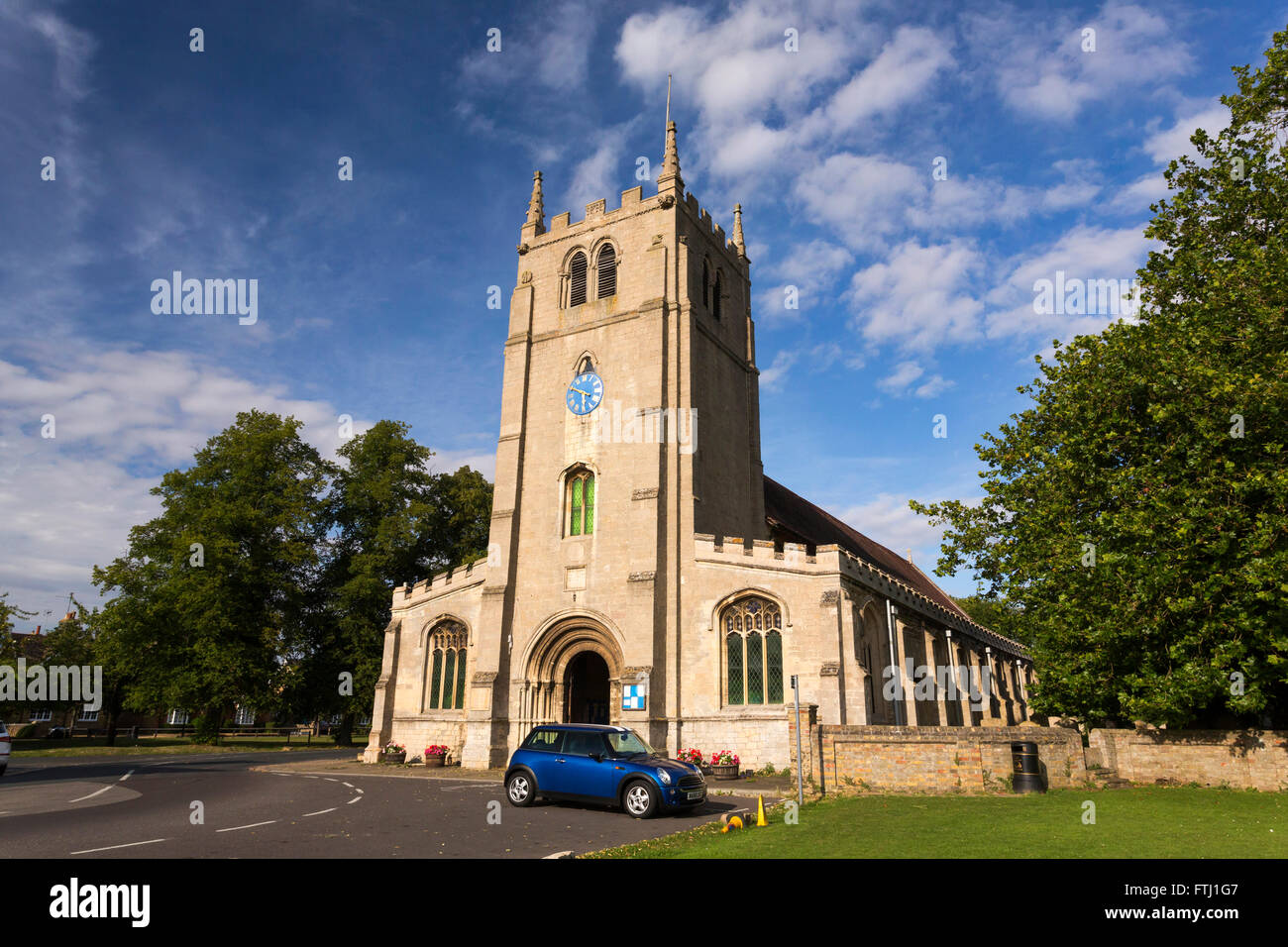 St Thomas a Becket parish church in Ramsey, Cambridgeshire, UK - Stock Image