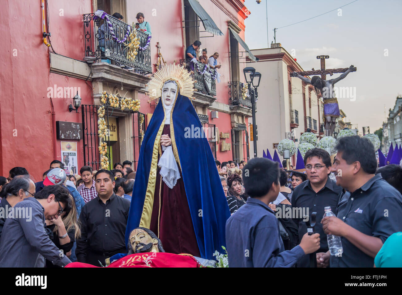 The Holy Friday procession in Oaxaca, Mexico. Stock Photo