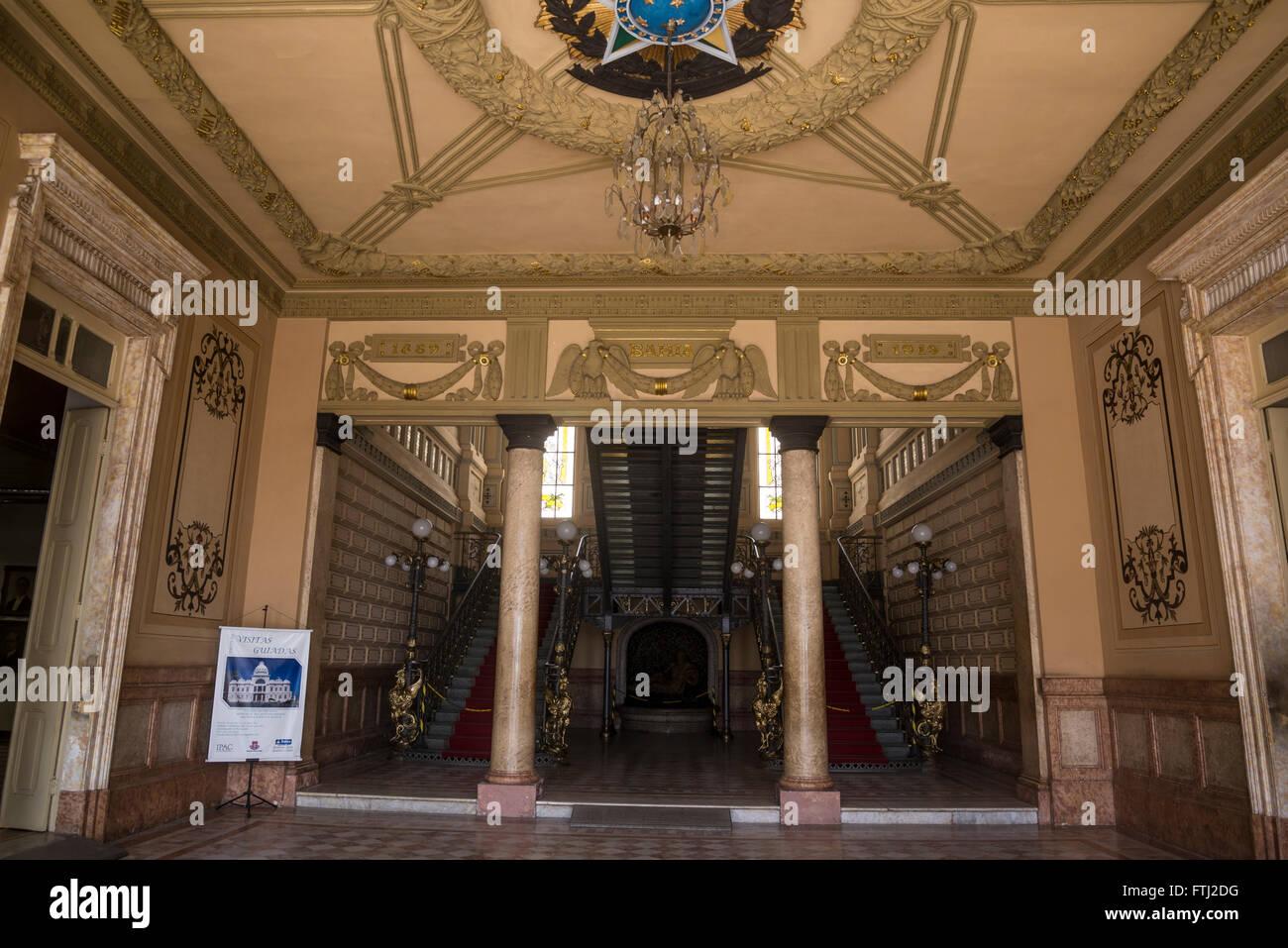 Palácio Rio Branco, Praça Tomé de Sousa, Salvador, Bahia, Brazil - Stock Image