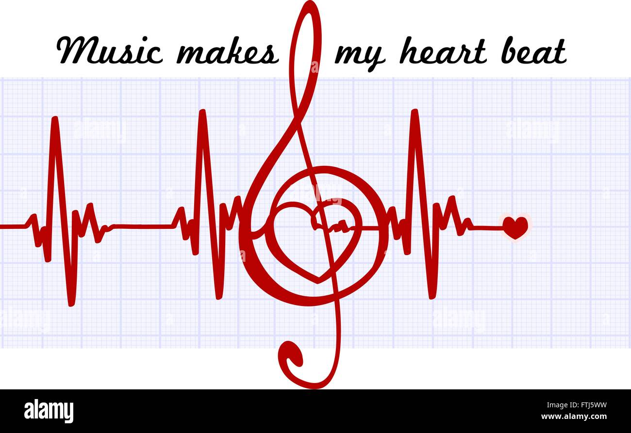 Heart in a musical clef with cardiogramsic makes my heart beat heart in a musical clef with cardiogramsic makes my heart beat quote vector abstract art sign ccuart Image collections