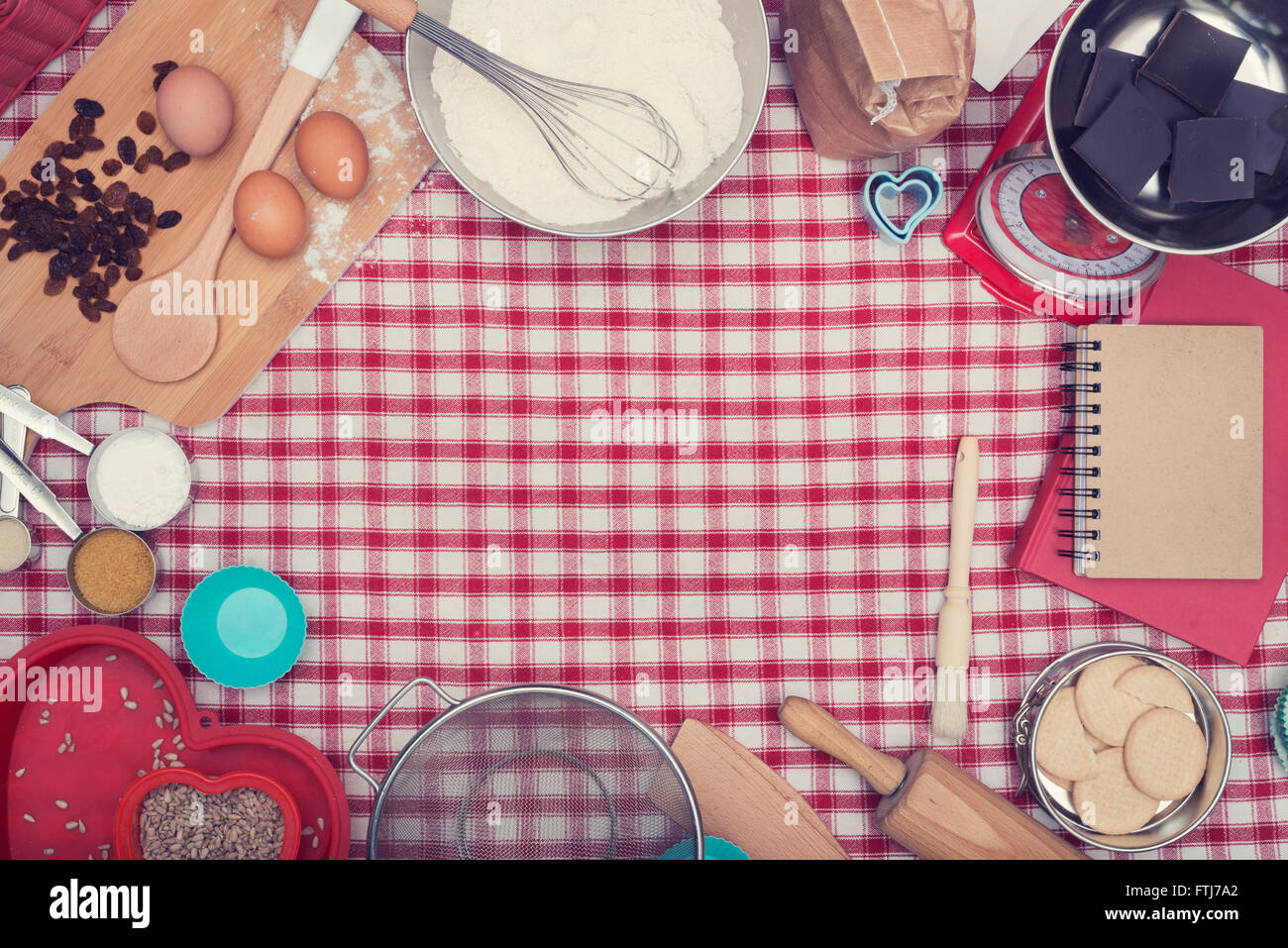 Home cooking baking header - Stock Image
